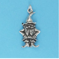 GNOME CHARM FINE JEWELRY 925 Sterling Silver or 22 K Gold Vermeil High Quality