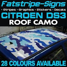 CITROEN DS3 ROOF CAMO GRAPHICS STICKERS STRIPES DECALS CAMOUFLAGE VTR VTS 1.4