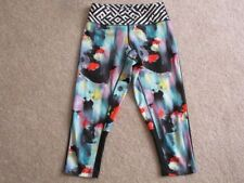 Asics Women's XS black multi print leggings pants capris yoga running cycling