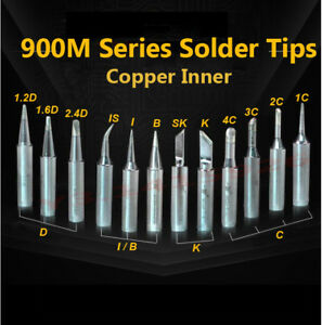 Soldering Tip Pure Copper Inner Core Electric Iron Head 900M Series Solder Tips