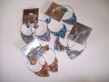 2 Paris Wing Colorful Pierced Earrings - Colors Vary