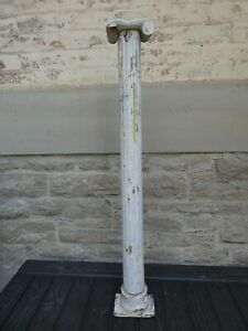"""Architectural Salvage Ionic Column 36"""" Tall 1850s Wood Old Paint"""