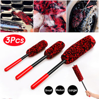 3Pcs/Set Wheel Woolies Luxury Super Plush Soft Alloy Wheel Cleaning Brush Kit