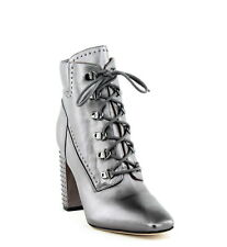 Sigerson Morrison | Valora Studded Ankle Booties | Silver | 9 M