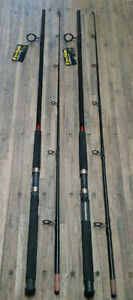 (LOT OF 2) FIN-NOR MEGALITE 10' 2PC HEAVY ACTION SPINNING RODS