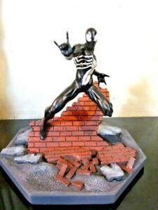 BAIT x Marvel Black Spider-Man Statue By MINDstyle, Black Iron Studios 1/8 Scale