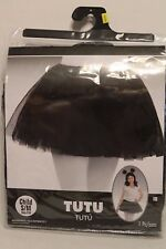 Amscan Black Tutu Skirt Child Size S-M Girl Ages 4-10 Halloween Dress-Up EUC