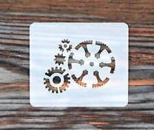 Small Steampunk Cogs Face Painting Craft Stencil 7cm x 6cm 190micron Washable