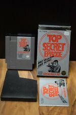 Golgo 13 Top Secret Episode NES Nintendo Cartridge Box Ins. WORKS NO SYTROFOAM