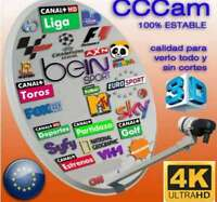 CCCAM CLINE 1 AÑO SERVIDOR PRIVADO Y POTENTE TEST LATENCIA 24 MS FRANCIA