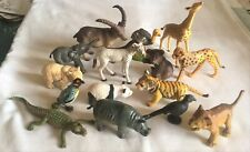 Job Lot of 15 Plastic Toy Zoo Animals – mainly baby / young animals