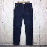 "J Jill Denim 10 Smooth Fit Jeans Straight Leg Stretch Dark Wash 30.5"" Inseam"