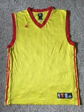 Blank China Adidas Basketball Jersey Trikot FIBA NBA Yao Ming Mens Sz L Yellow