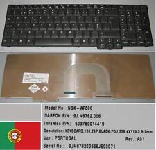 Clavier Qwerty PO Portugais ACER 9800 9813 9J.N782.006 NSK-AF006 Noir