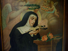 "19th Catholic Icon ""Our Lady of Solitude"" Print on Tin"