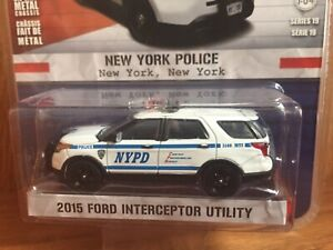 1/64 Greenlight Hot Pursuit Series 19 NYPD 2015 Ford Interceptor Utility