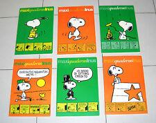 Serie 6 Maxi Quaderni LINUS  Schulz Mondadori 1978 Snoopy Charlie Brown Copybook
