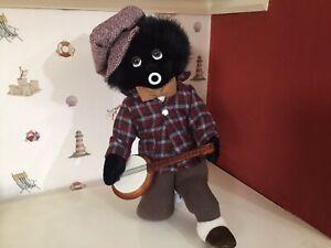 Vintage Merrythought Black Cloth Doll Banjo Joe Band Member Limited Edition Tags