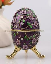 Faberge Egg Crystals Jewelry Trinket box, Ring box, Gift Box and Vintage Decorat