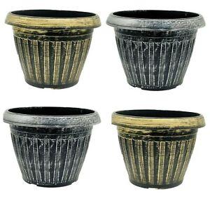 SG Large Round Plastic Garden Plant Pot Flower Pots Planter Herb Pots Outdoor