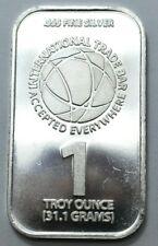 ITB 1 Oz 999 Fine Silver USA Limited Ed. International Trade Bar 31.1g, Bullion.