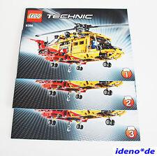 LEGO BAUANLEITUNG Technik 9396 Großer Helikopter Hubschrauber Neu No PARTS