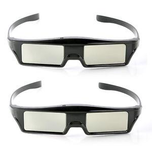 2x Aktiv RF 3D Brille Ersatz für Epson Beamer ELPGS03, mit Beutel und Putztuch