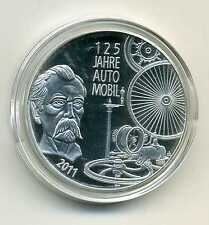Médaille entre Allemand Pièces de monnaie 125 Jah Automobile 2011 argenté M_005