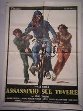 Manifesto ASSASSINIO SUL TEVERE 1979 CON THOMAS MILIAN REGIA BRUNO CORBUCCI 2F