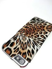 For Apple iPhone 5 5S Leopard Print Hard Case Hard Trim Cheetah Textured Cover