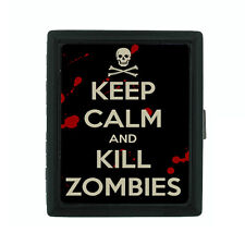 Metal Cigarette Case Holder Box Keep Calm and Kill Zombies D19 Walking Dead