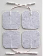 "Electrode Pads (4 pcs) - 2"" x 2"", Free Shipping- White cloth-Tens-Massager"