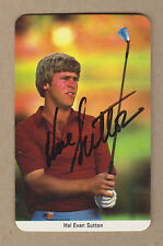 Hal Sutton signed 1997 Fax-Pax golf Rookie card