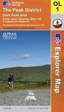 The Peak District: Dark Peak Area (OS Explorer Map), Ordnance Survey, Good, Map