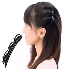 Hot Fashion Double Hair Pin Clips Barrette  Comb Hairpin Disk Women Girls   2016