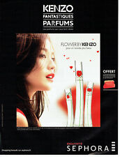 Publicité Advertising 127  2013  parfum Flower by Kenzo  Sephora