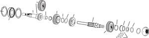 Drag Specialties Mainshaft Ball Bearing(2) 1106-0010