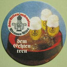 ALTENMUNSTER BRAUER BIER old beer COASTER, Mat GERMANY