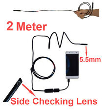 2Meters 5.5mm diameter OTG camera endoscope camera support bend checking Camera
