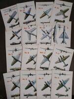 Set of 16 postcards USSR Soviet combat aircraft