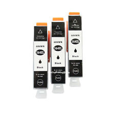3x High-Yield Black Ink For HP 564 XL PhotoSmart 5511 5512 5514 5515 C5388 C5390