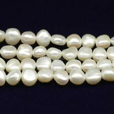 Natural Baroque Cultured Freshwater Pearl Loose Beads DIY 5mm 15 Inch MJKY