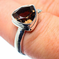 Smoky Quartz 925 Sterling Silver Ring Size 7 Ana Co Jewelry R26313F