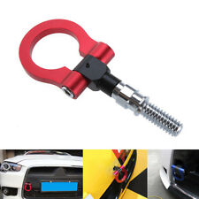 Red Aluminum Car Front Rear Screw On Tow Hook Towing Racing Trailer Ring For BMW