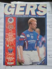 More details for gers, rangers club official matchday programme,1.02.1997, rangers vs hearts