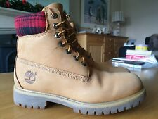 MEN'S TIMBERLAND 6 INCH PREMIUM WOOLRICH WHEAT ANKLE BOOTS - SIZE 7W