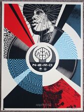 Obey N.E.R.D Cracked But Unbroken Print by Shepard Fairey signed and numbered