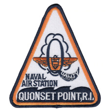 "5"" Navy Naval Air Station Quonset Points Rhode Island Embroidered Patch"