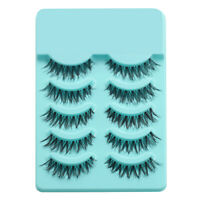 5Pairs Beauty Makeup Handmade Long Thick Cross False Eyelashes Eye Lashes
