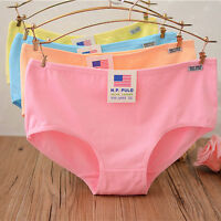 Women lady Cotton Knickers Panties Cute Briefs Underwear Antibacterial Lingerie